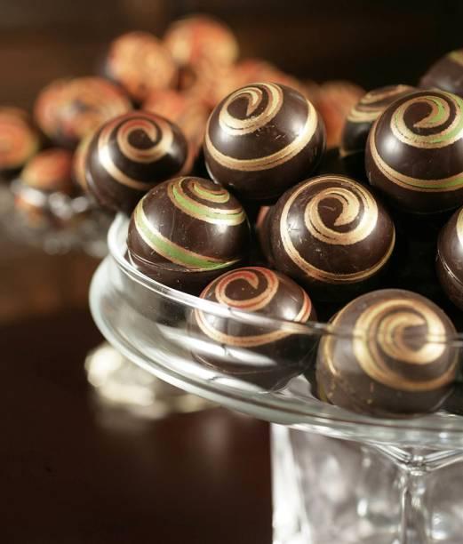 Bolas de chocolate francês