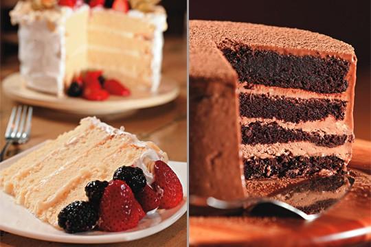Versões de baunilha com frutas vermelhas e de chocolate maltado