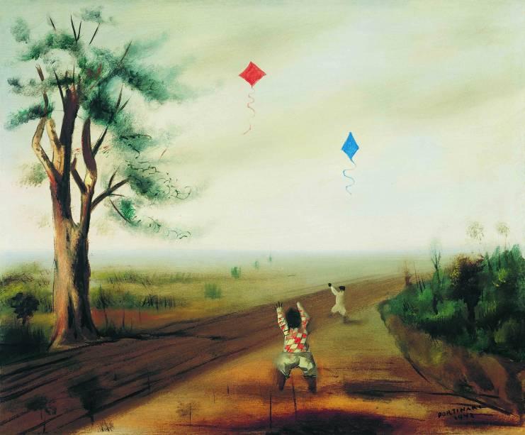 O pintor retrata a terra natal em Brodowski (1942): uma das 35 obras em exibição