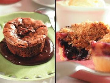 Brownie alpino e torta de mirtilo com sorvete de creme: para acompanhar o expresso Suplicy
