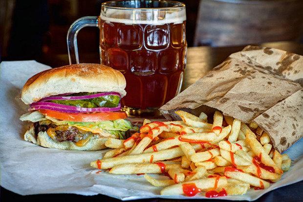 Burger Joint: combinado com fritas da matriz, em Nova York