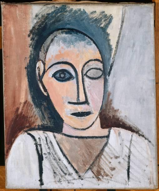 """Um dos estudos para o célebre quadro """"Les demoiselles dAvignon"""", fundador do cubismo"""