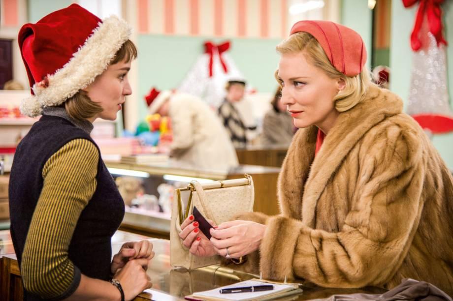 Carol: Rooney Mara e Cate Blanchett, muito luxo e química zero