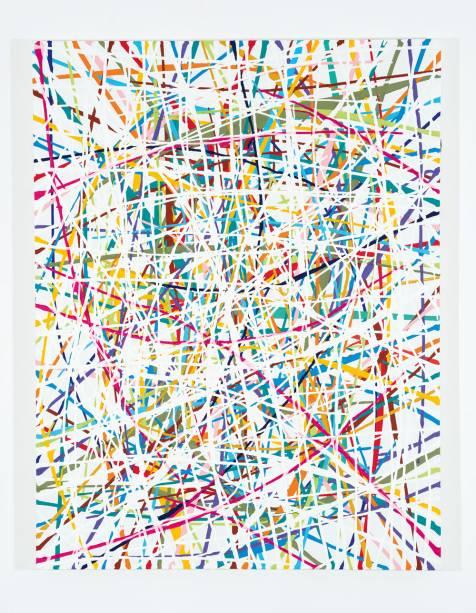 As pinturas construídas a partir de linhas do paulista Caetano de Almeida