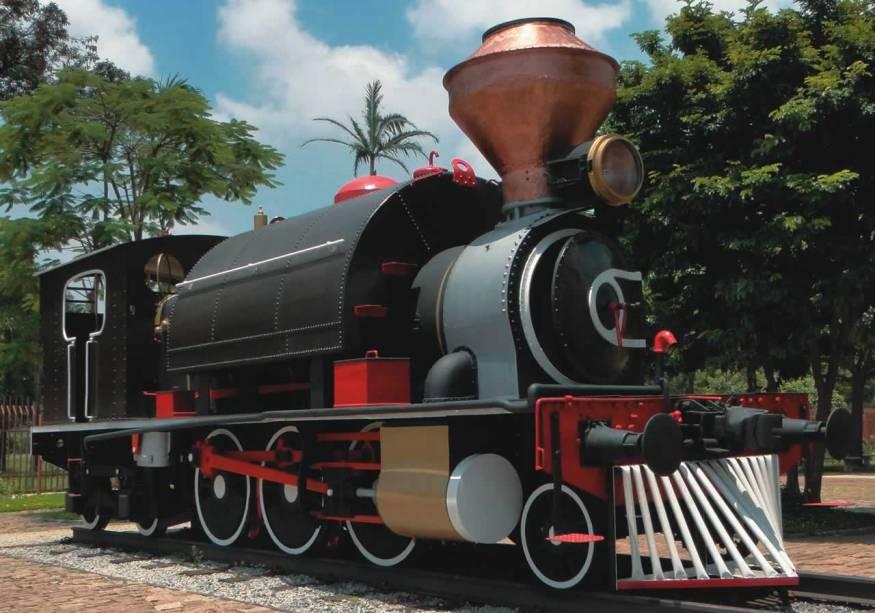 Locomotiva a vapor do fim do século XIX: novidade no acervo do Catavento Cultural e Educacional