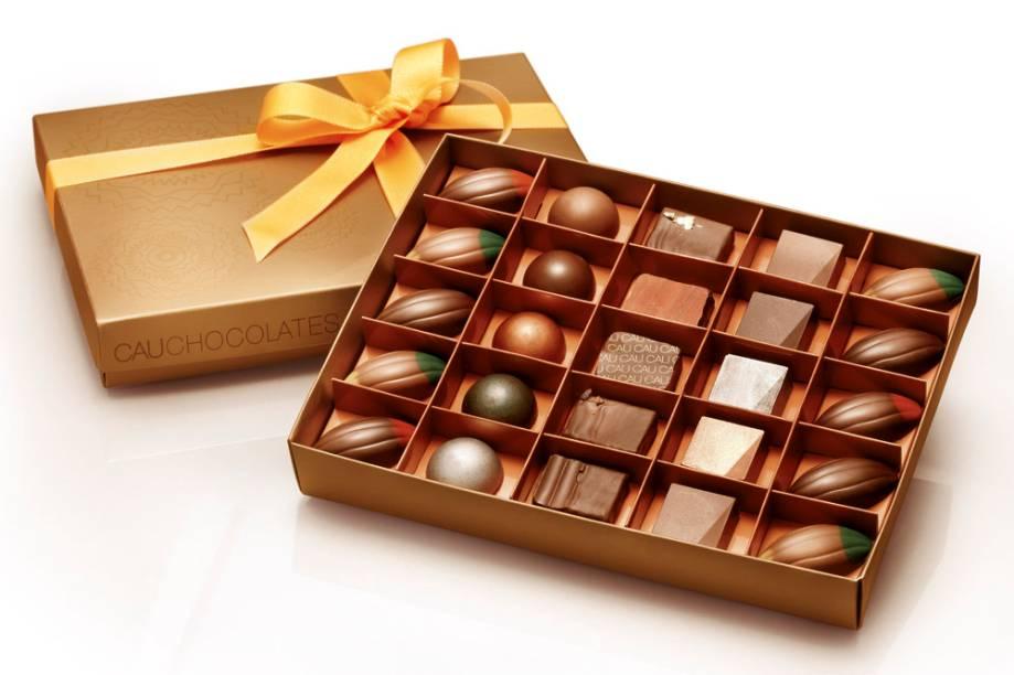 Caixa de bombons da Cau Chocolates