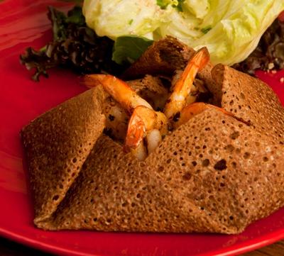 Gallete de camarão do restaurante Ami Crêperie