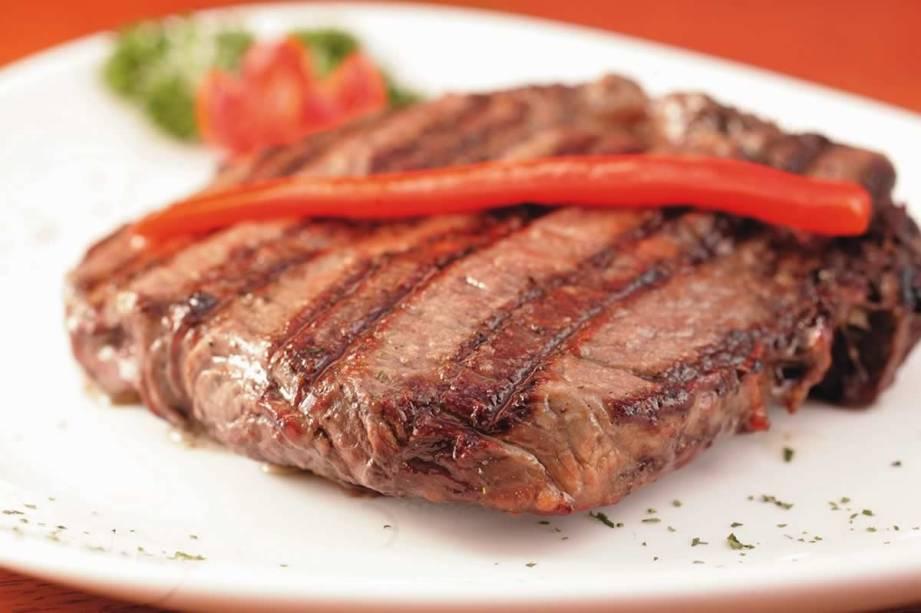 No cardápio da churrascaria Che Bárbaro: bife ancho (contrafilé)