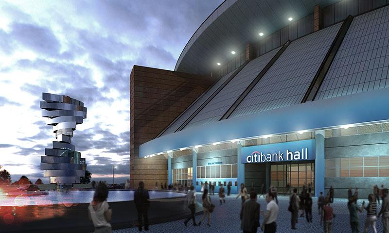 Fachada do novo Citibank Hall: espaço para shows e eventos