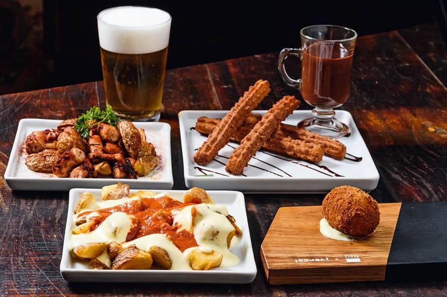 A degustação: tapas espanholas