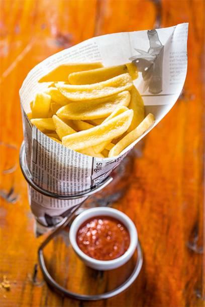 Cervejaria Ideal: fritas no cone de papel