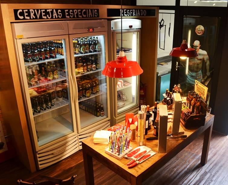 Interior da loja: seleção exclusiva de carnes e cortes especiais
