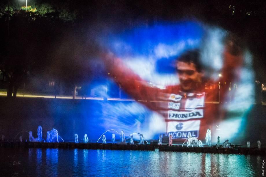 Ayrton Senna será homenageado na fonte multimídia do Ibirapuera neste mês de maio