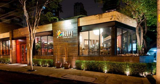 A fachada do restaurante