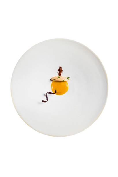 Sorbet de manjericão: toque cítrico de limão e chutney de bacuri mais uma inusitada pimenta vermelha cristalizada