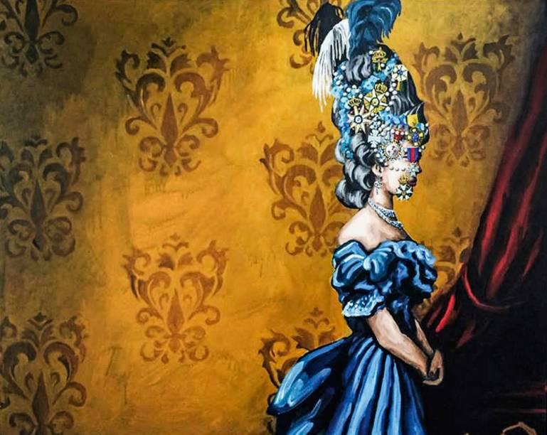 A tela Domitila, de Evandro Prado: à venda por 5 000 reais