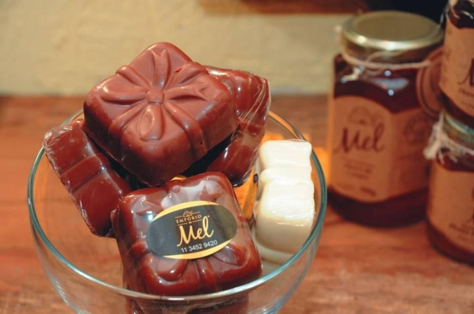 Pão de mel silvestre coberto de chocolate