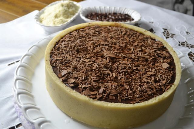 Torta de Marzipan com Ganache de Chocolate