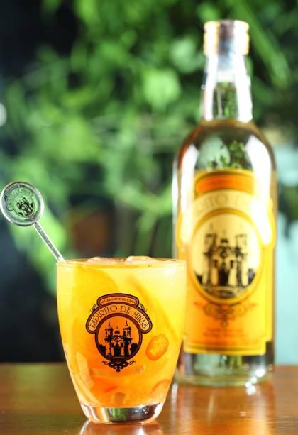 A caipirinha hot tangerine, do Senzala