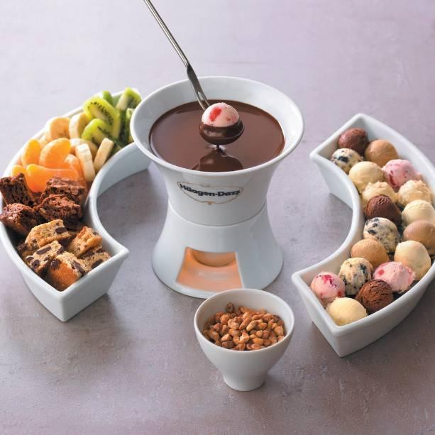 Fondue de chocolate: R$ 51,00 para duas pessoas