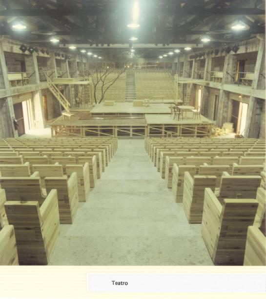Imagem da construção do teatro do Sesc Pompeia