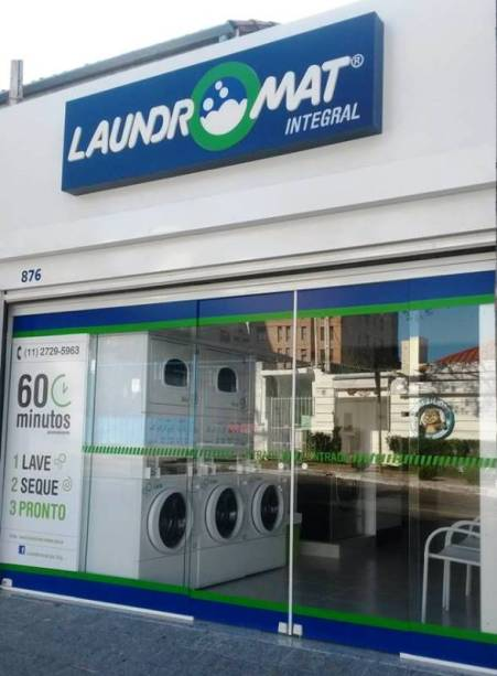 Unidade da lavanderia Laundromat, na Vila Madalena