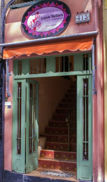 Fachada do restaurante: cozinha comandada pela ex-monja Madhava Lila