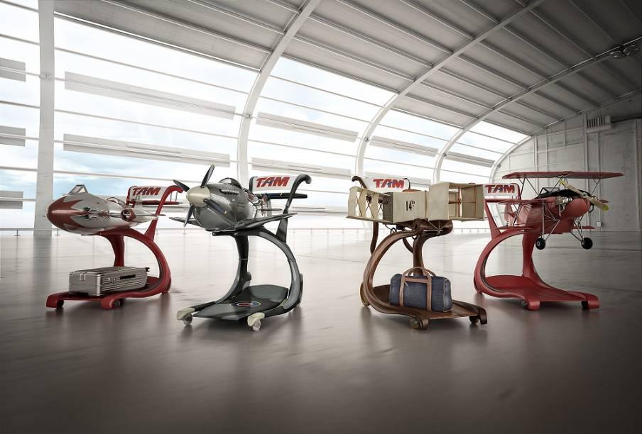 Exposição Bagagem Histórica cria réplicas de aeronaves famosas