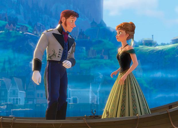 Frozen - Uma Aventura Congelante: a jovem Anna e o alpinista