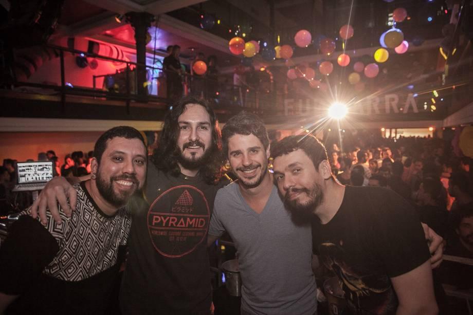 DJs residentes Tulio Araújo, Beto Artista, Pedro Neschling e Ricco