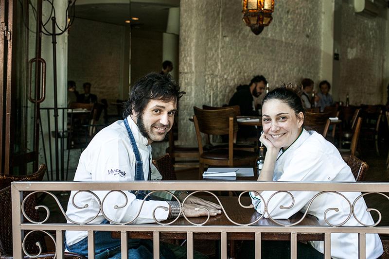 O casal de chefs Raúl Florenza e Marina Moraes