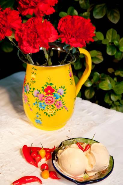 Abacaxi com pimenta é uma das combinações de sorvete que podem ser encontradas na casa