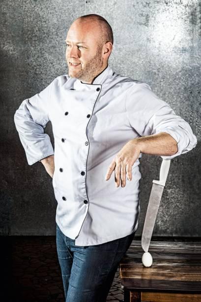 O chef australiano: equilíbrio de ingredientes na receita