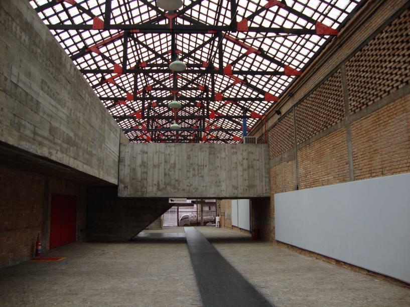 Hall de entrada do teatro do Sesc Pompeia