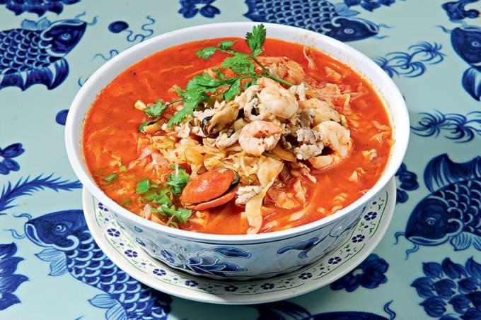 Frutos do mar ao molho picante, do Rong He