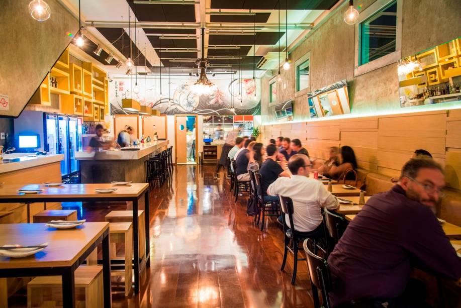 O ambiente do bar, na Vila Madalena