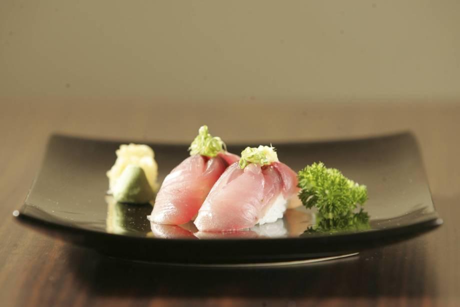 Sushi de carapau, do restaurante Huto