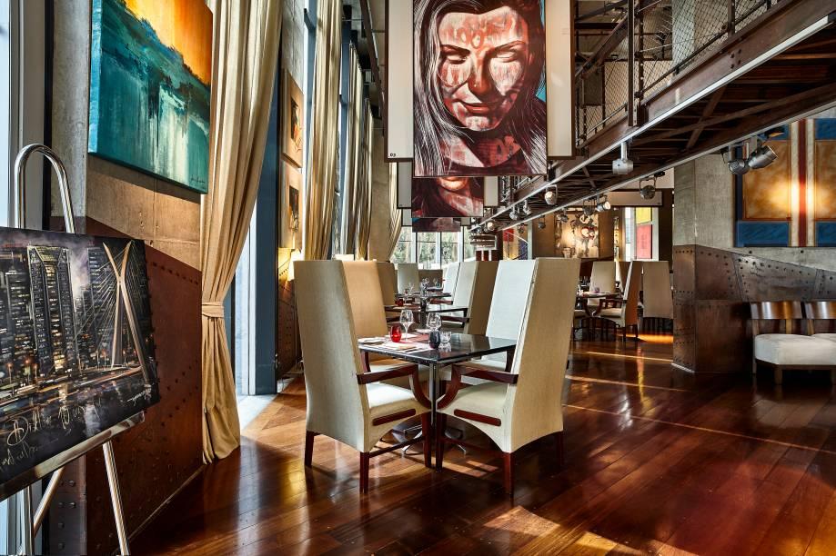 Ambiente do restaurante Canvas