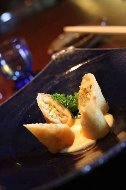 Harumaki de carne e legumes do Hakken