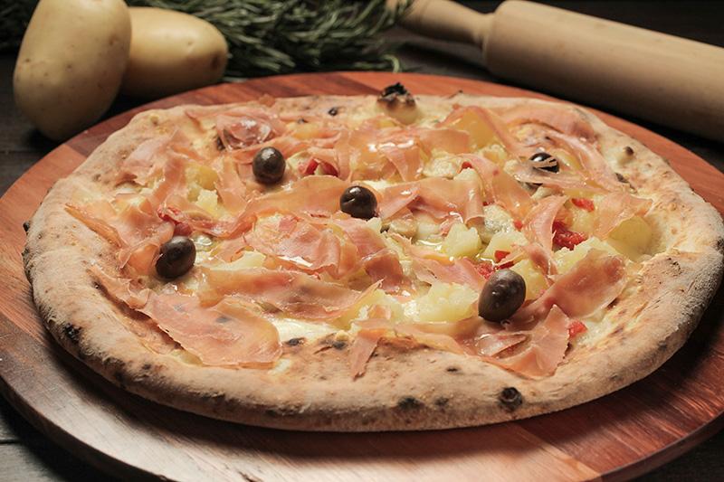 A combinação de batata e presunto cru, típica de Salerno