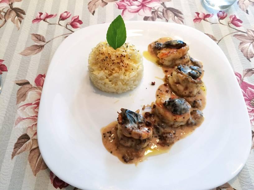 Nova sugestão: molho de ameixa com arroz cremoso de parmesão