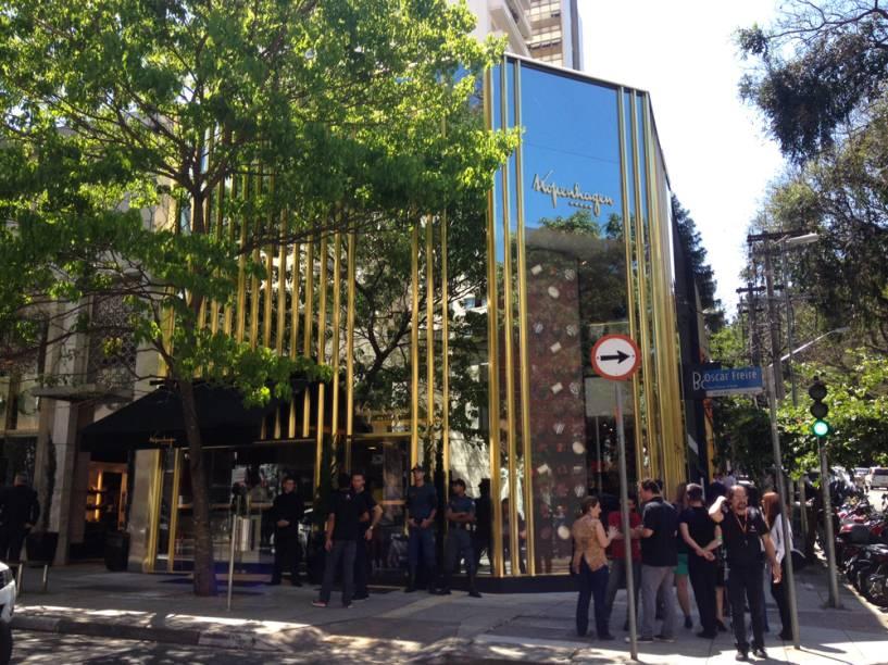 Fachada da loja-conceito na Rua Oscar Freire