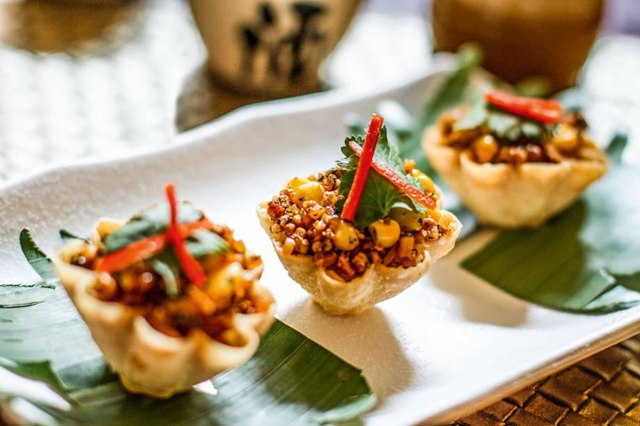 Festival das Luzes: cestinhas de frango menu especial