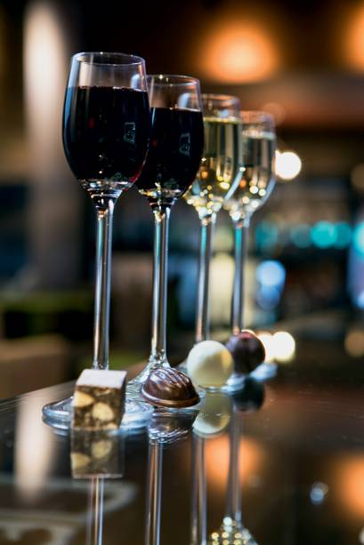 Harmonizações de vinho com bombons