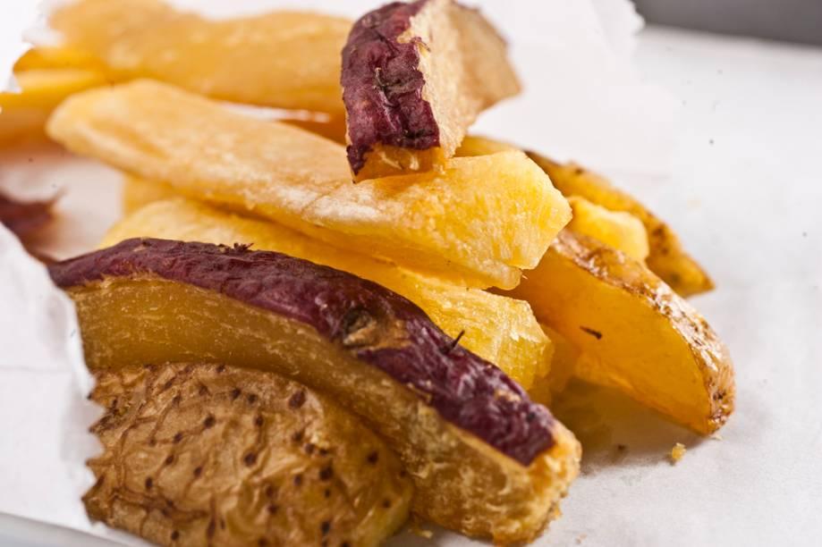 La Sanguchería: porção de batatas asterix e doce