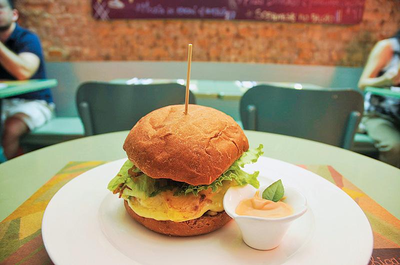 Hambúrguer de carne de gado brangus