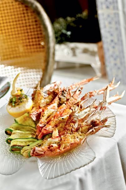 Cardápio: lagostim com abobrinha