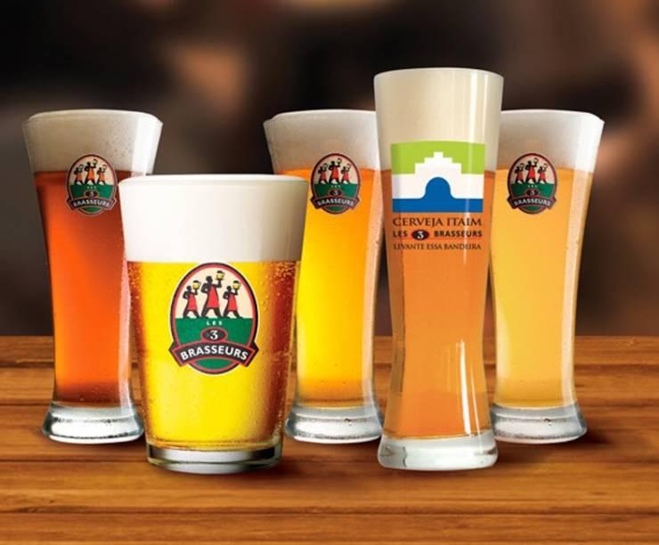 Les 3 Brasseurs: bar produz sua própria cerveja