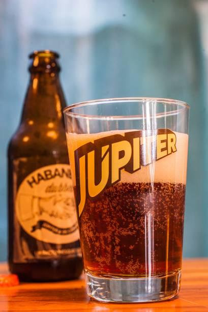 A cerveja nacional Júpiter Habanero Dubbel