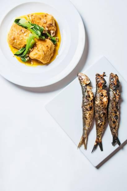 Entre as novas receitas de bacalhau, uma, com o peixe empanado, surpreende pela adição de molho de laranja com um toque agridoce